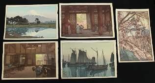 (5) HIROSHI YOSHIDA JAPANESE WOODBLOCKS