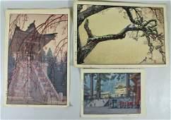 (3) TOSHI YOSHIDA JAPANESE WOODBLOCKS