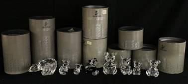 9 SWAROVSKI CRYSTAL FIGURINES W BOXES