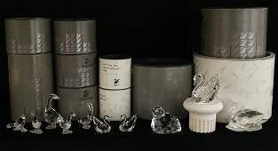 10 SWAROVSKI CRYSTAL FIGURINES W BOXES