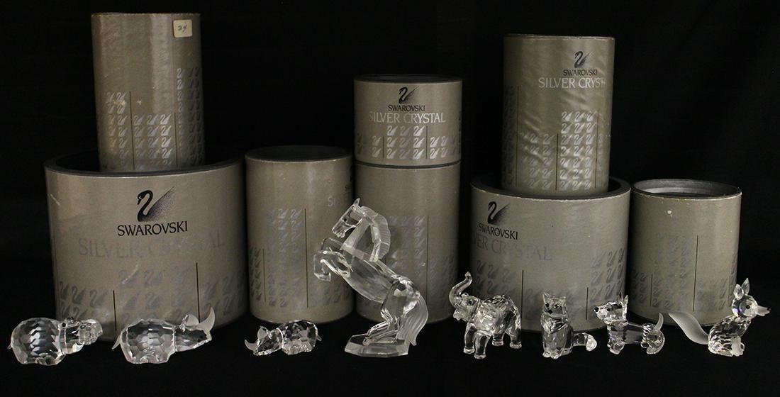 (8) SWAROVSKI CRYSTAL FIGURINES W/ BOXES