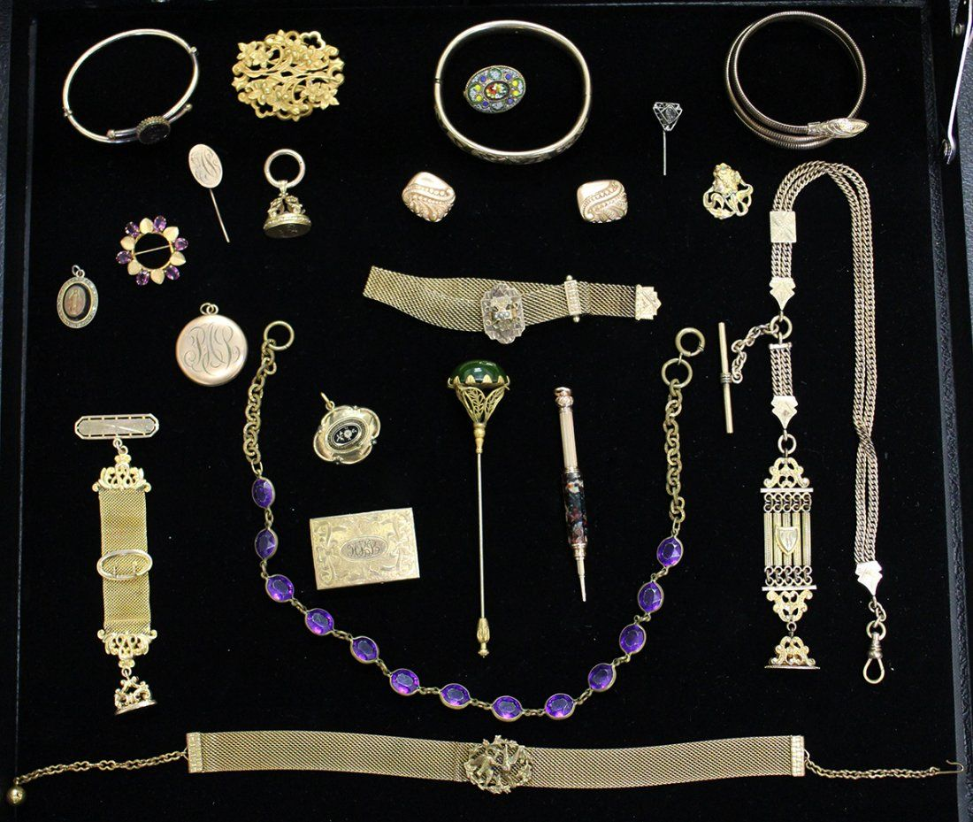 VICTORIAN GOLD FILLED JEWELRY COLLECTION