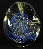 ROBERT EICKHOLT ART GLASS PAPERWEIGHT