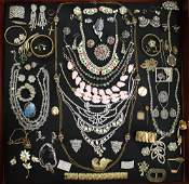 VINTAGE COSTUME, GOLD & SILVER JEWELRY