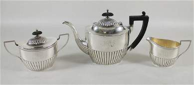 19TH CENTURY WHITING STERLING TEA SET