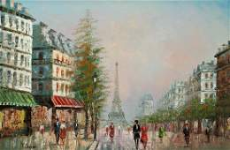 PARIS PAINTING BY CARSON