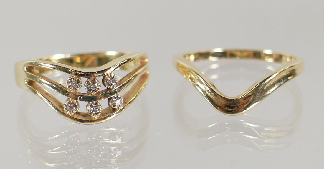 14K MODERN DIAMOND WEDDING ENGAGEMENT RING SET