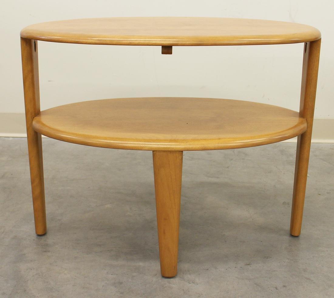 HEYWOOD WAKEFIELD MODERN OVAL SIDE TABLE