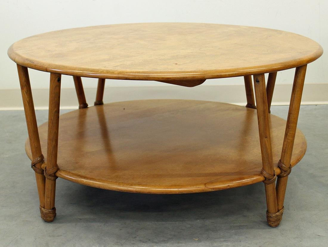 HEYWOOD WAKEFIELD RATTAN TABLE