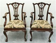 (2) MAITLAND SMITH CHIPPENDALE STYLE CHAIRS