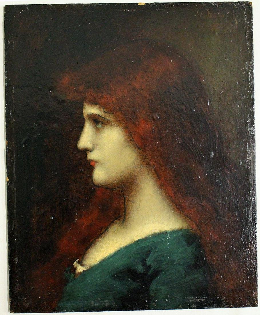 ATTB. JEAN JACQUES HENNER OIL PAINTING
