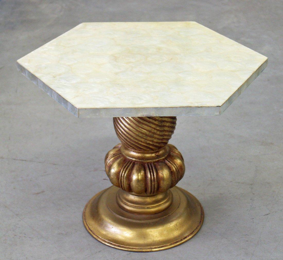 CAPIZ SHELL SIDE TABLE