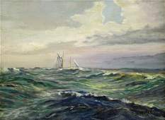 """J.W. WAGNER """"TH COMING SQUAL"""" PAINTING"""
