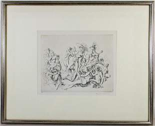 REGINALD MARSH ESTATE ETCHING