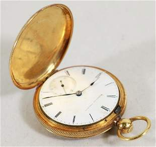 18K GOLD POCKET WATCH PRESENTED IN 1865