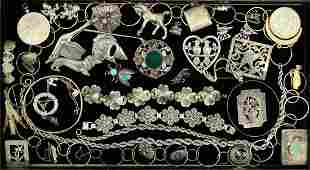 VINTAGE STERLING SILVER JEWELRY COLLECTION