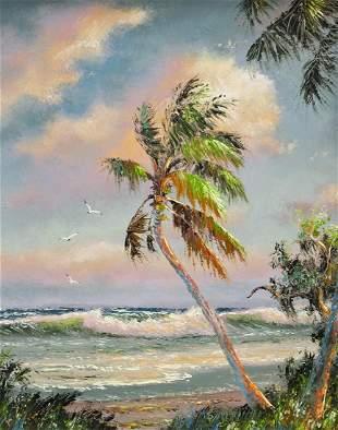 SAM NEWTON HIGHWAYMEN FLORIDA BEACH PAINTING