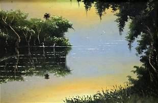 SAM NEWTON HIGHWAYMEN FLORIDA RIVER PAINTING