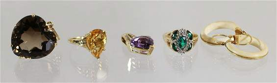 10KT - 14KT GOLD GEMSTONE JEWELRY COLLECTION