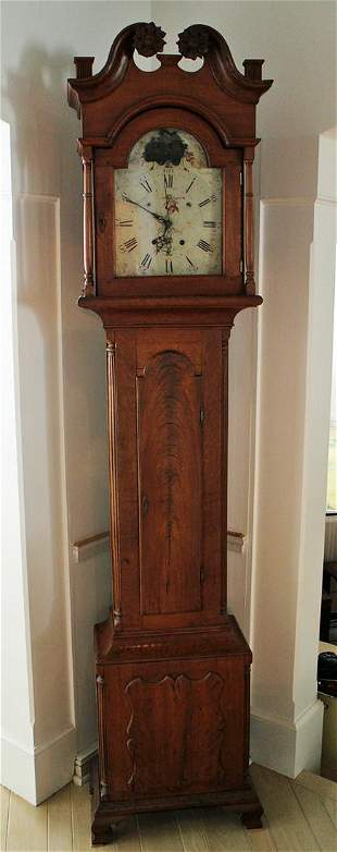 18TH CENT. GEORGE HOFF LANCASTER TALL CASE CLOCK