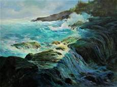 RUBY KENT SEASCAPE PAINTING