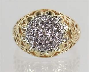 10K DIAMOND MEN'S RING