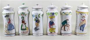(6) PORTUGUESE APOTHECARY STYLE JARS