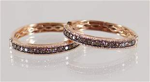 LEVIAN 14K ROSE GOLD & DIAMOND EARRINGS