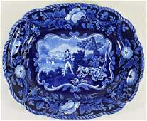 19TH CENT. CLEWS STAFFORDSHIRE FOX HUNT PLATTER