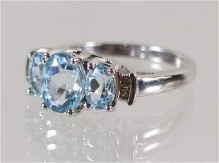 10K 2.00 TCW BLUE TOPAZ & DIAMOND RING