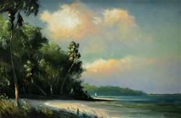 HAROLD NEWTON FLORIDA BEACH HIGHWAYMEN PAINTING