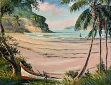SAM NEWTON JAMAICA BEACH HIGHWAYMEN PAINTING