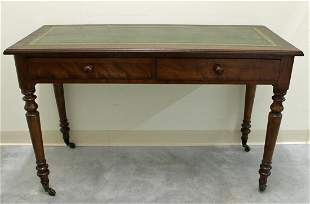 19TH CENTURY LEATHER TOP WRITING TABLE