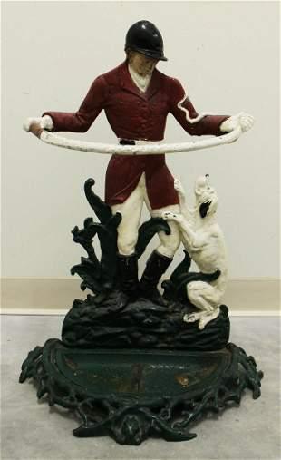 CAST IRON FOX HUNTER & DOG UMBRELLA STAND