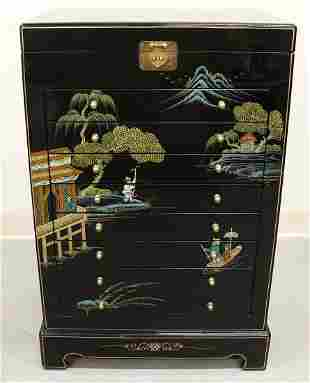 ASIAN JEWELRY ARMOIRE CHEST