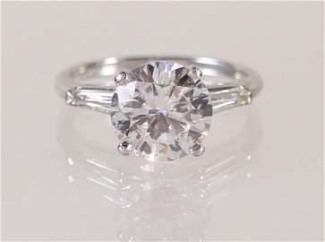 PLATINUM 2.88 CARAT DIAMOND RING