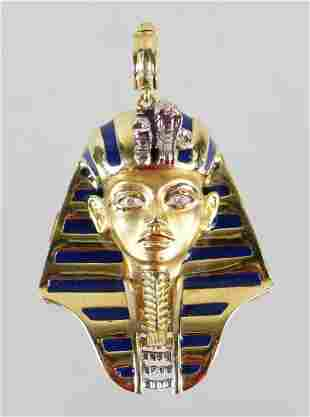 18K GOLD EGYPTIAN DIAMOND PENDANT
