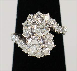 18K 2.64 TCW DIAMOND RING