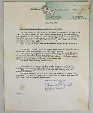 DYNAMIC GEER COMPANY LETTER DATED 1969