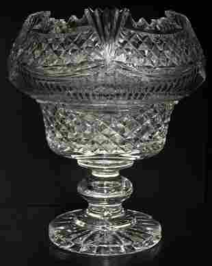 WATERFORD CRYSTAL MASTER CUTTER CENTERPIECE BOWL