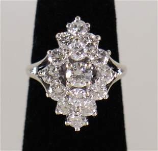 14K 3.20 CTW DIAMOND COCKTAIL RING