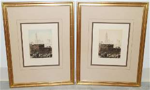 """(2) JOHN TAYLOR ARMS """"OUT OF MY WINDOW"""" ETCHINGS"""