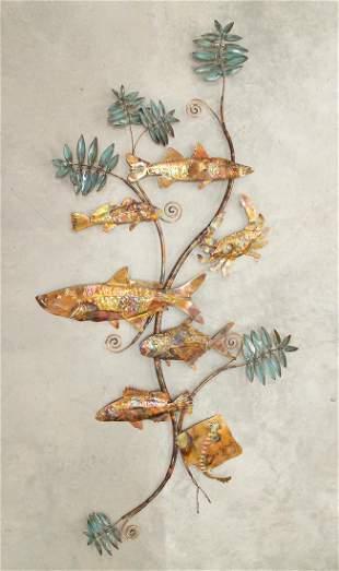 METAL FISH WALL ARTWORK