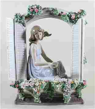 SIGNED LLADRO THINKING OF LOVE SCULPTURE