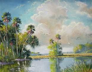 SAM NEWTON FLORIDA BACKWOODS HIGHWAYMEN PAINTING