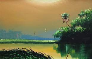 UNSIGNED FLORIDA HIGHWAYMEN PAINTING