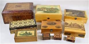 ANTIQUE & VINTAGE BOXES & TEA CADDY