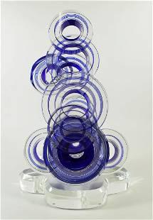 STEPHEN JON CLEMENTS - BLUE CIRCLES SCULPTURE