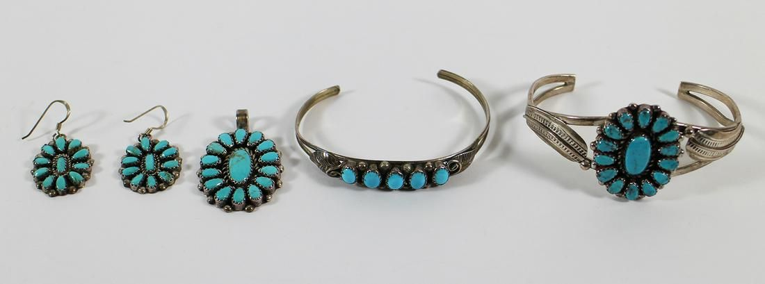 ZUNI STERLING & TURQUOISE JEWELRY