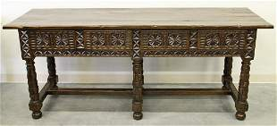 JERRY PAIR SPANISH COLONIAL STYLE CONSOLE TABLE